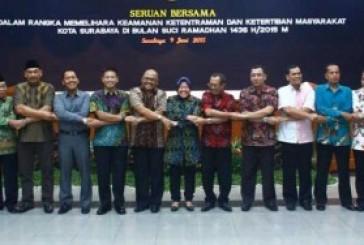 Jelang Ramadhan, Walikota, Forpimda, dan Hiperhu, Teken Seruan Bersama