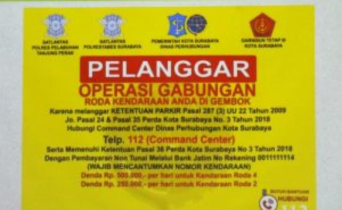 Sanksi Pelanggaran Parkir Di Surabaya Diterapkan Per 1 Nopember 2018