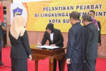 Wali Kota Tri Rismaharini Kembali Lantik Pejabat Pemkot Surabaya