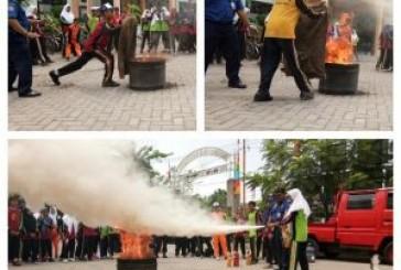 Antisipasi Kebakaran, Dinas Damkar Surabaya Gencarkan Sosialisasi dan Latih Personil