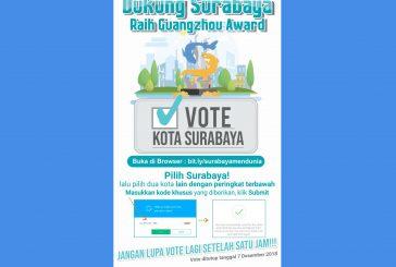 "Wali Kota Risma : ""Ayo Vote Surabaya di Ajang Guangzhou International Award !"""