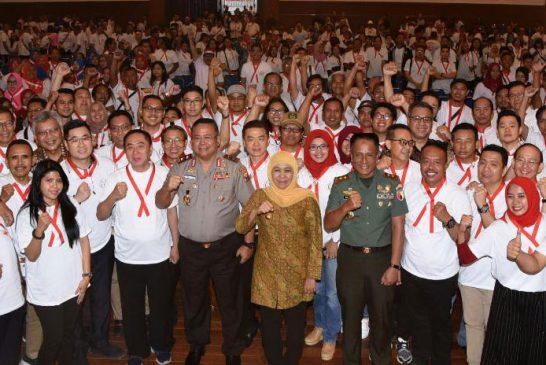 """""""Deklarasi Bersatu – Damailah Indonesia"""" Gagasan FORKAS Jatim, Diapresiasi Gubernur Khofifah"""