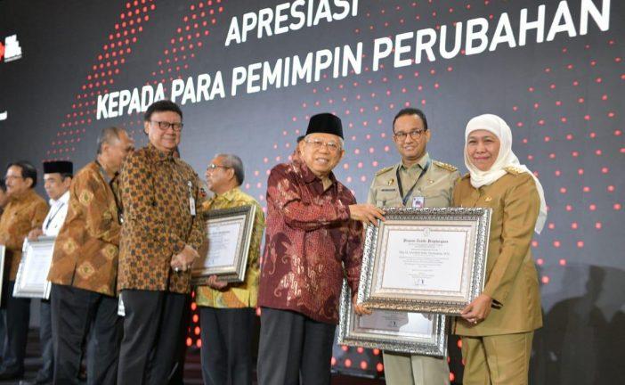 Anugerah Pemimpin Perubahan Diberikan KemenPAN RB Kepada Gubernur Khofifah
