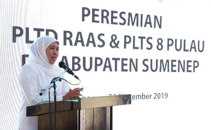 Gubernur Resmikan PLTD & PLTS Di Kepulauan Sumenep. Rasio Elektrifikasi Jatim Nyaris 100 Persen.