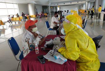 152 Pekerja Migran Dari Malaysia Plus 40 Pekerja Asal Papua Dites Cepat Covid-19, Hanya Satu Reaktif.