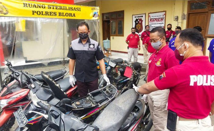 Operasi KRYD, Satreskrim Polres Blora Amankan 4 Tersangka Pelaku Curanmor