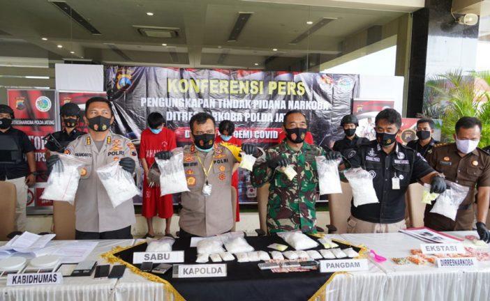 Direktorat Reserse Narkoba Polda Jateng Ungkap Pengedaran Sabu Di Kota Semarang