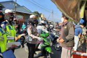 Satlantas Polres Salatiga Blusukan Ke Pasar Disiplinkan Warga Dan Pedagang Tertib Pakai Masker
