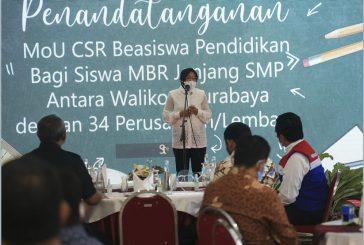Terima CSR Beasiswa Pendidikan Sekitar Rp 4 Miliar, Pemkot Surabaya Salurkan Kepada Siswa MBR